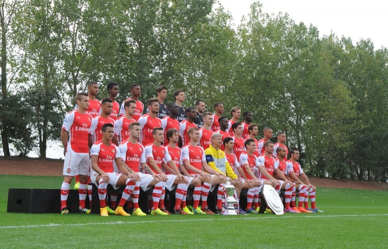 Arsenal First Team Photocall